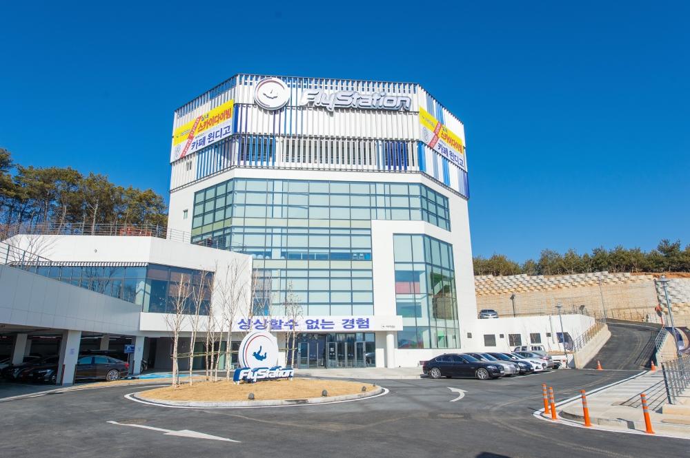 ▲ 실내스카이다이빙 플라이스테이션 전경.  /사진제공=플라이스테이션